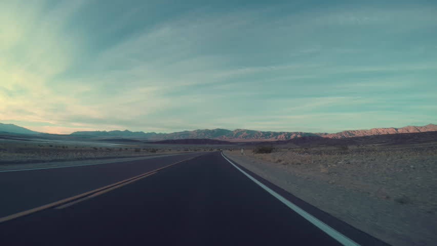 Driving On Desert Road, Driver's Perspective | Shutterstock HD Video #21610618