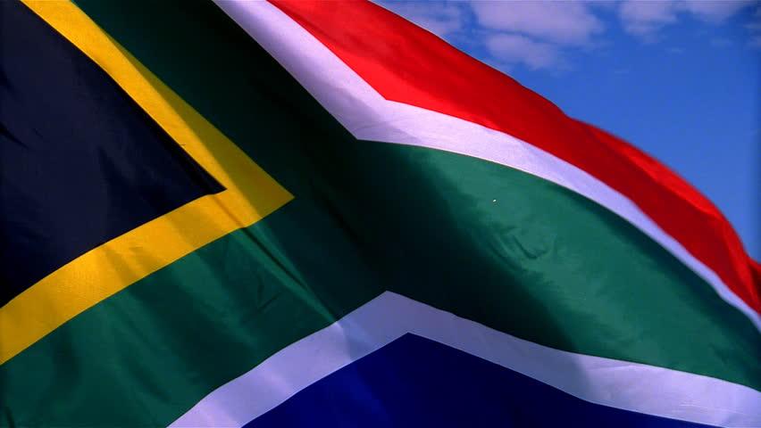 Closeup of South Africa flag