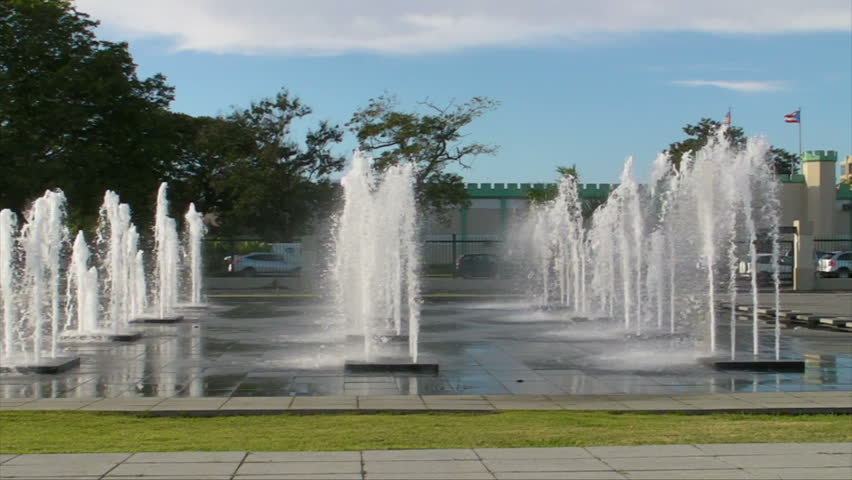 Public Water Fountains Stock Footage Video 100 Royalty