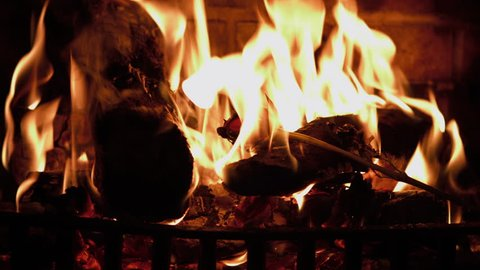 Rose Burning In A Fireplace