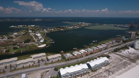 Aerial view of Pensacola Beach Florida