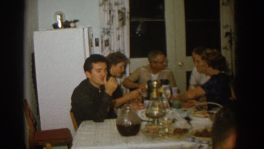 ZURICH SWITZERLAND 1963: the family meal together. #21746908