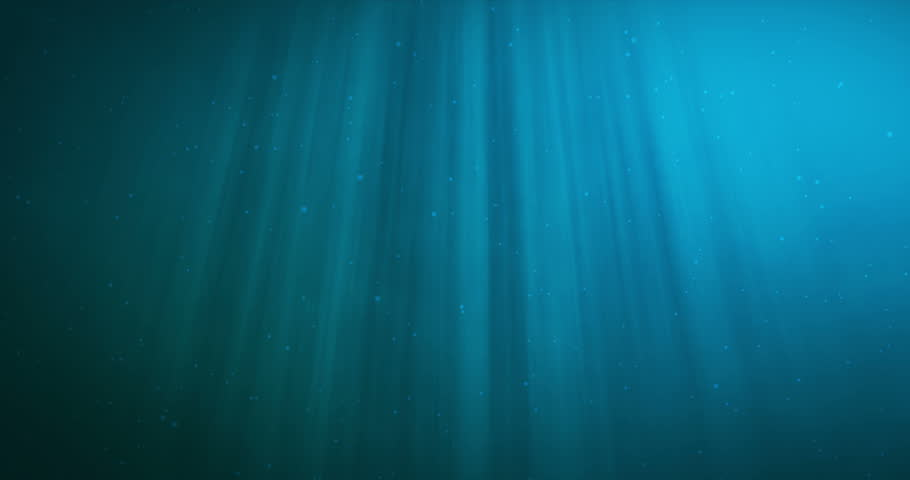 High quality animation of ocean waves from underwater with floating plankton. Light rays shining through. Great popular marine background HD, high definition 4k.