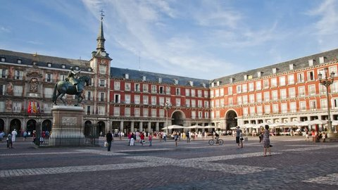 A Timelapse of Plaza Mayor, Madrid, Spain