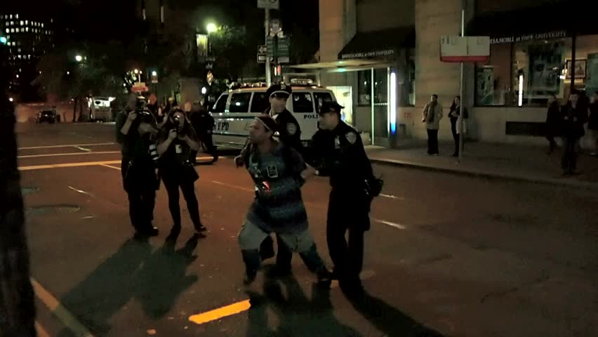 NEW YORK - 2011 and 2012: Compilation of Occupy Wall Street protest arrests from September 2011 to April 2012 in New York City.