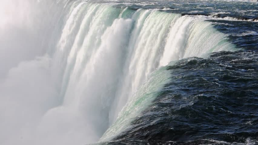 Niagara Falls edge with sound