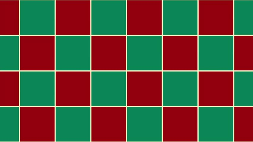 Red Green Chess Board Christmas Background