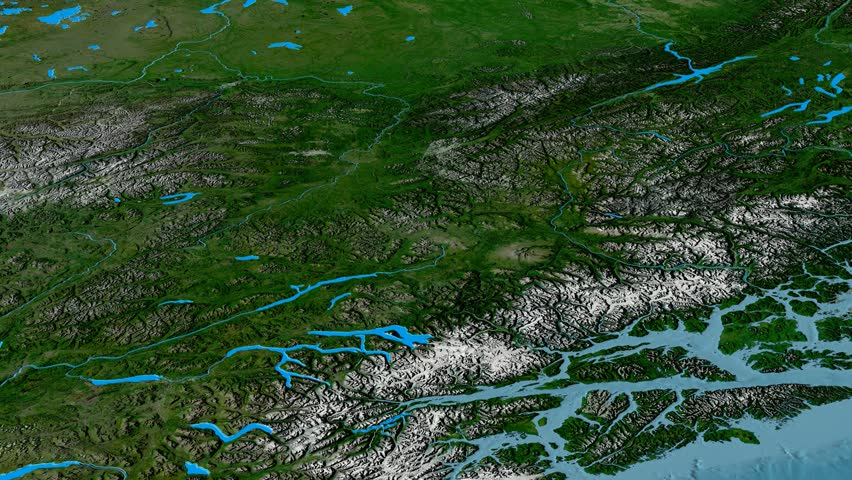 Revolution Around Cassiar Mountain Range Glowed Satellite - Aster gdem free download