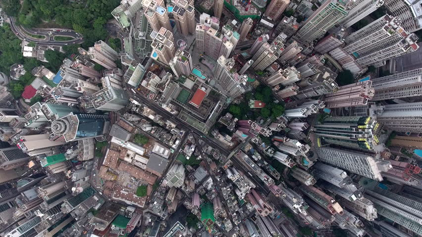Busy morning in financial state buildings and megapolis skyscrapers, development buildings with offices and headquarters located in Hong Kong city, video can be used for films and advertising industry | Shutterstock HD Video #22037497