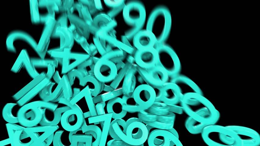 Numbers digits numerals fill screen math calculus school financial 4k | Shutterstock HD Video #22040578