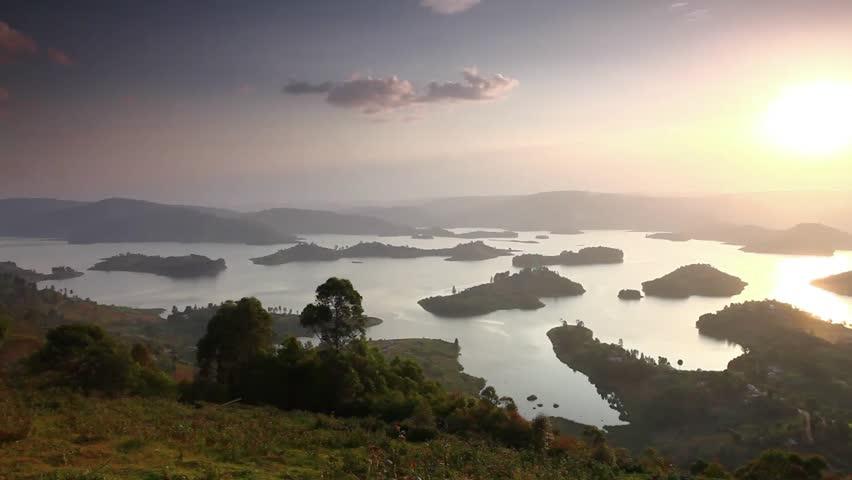 Lake Bunyonyi, Uganda, Africa, sunset