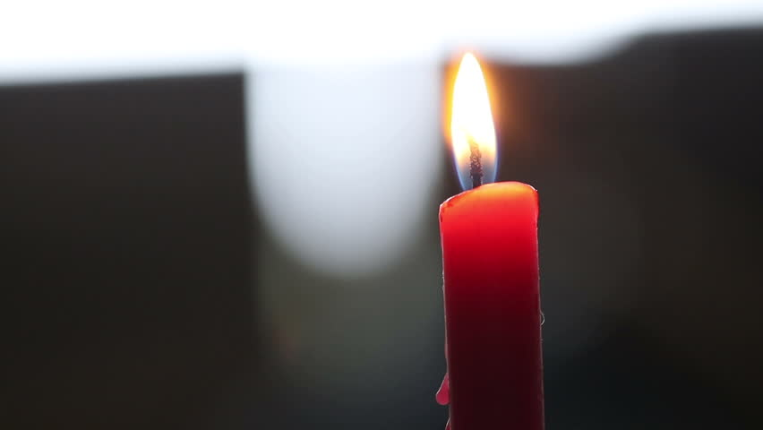 Red candle light with bokeh background | Shutterstock HD Video #22124518