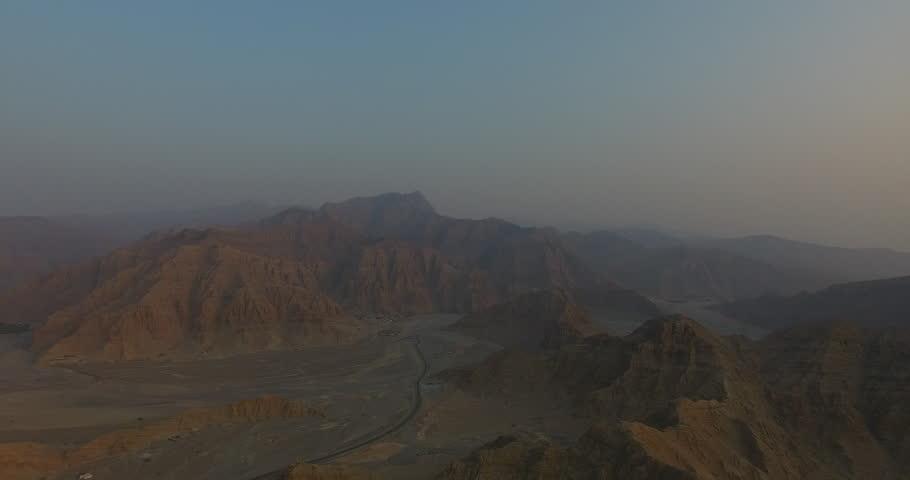 Panning into the sunset Jabal Al Jais UAE