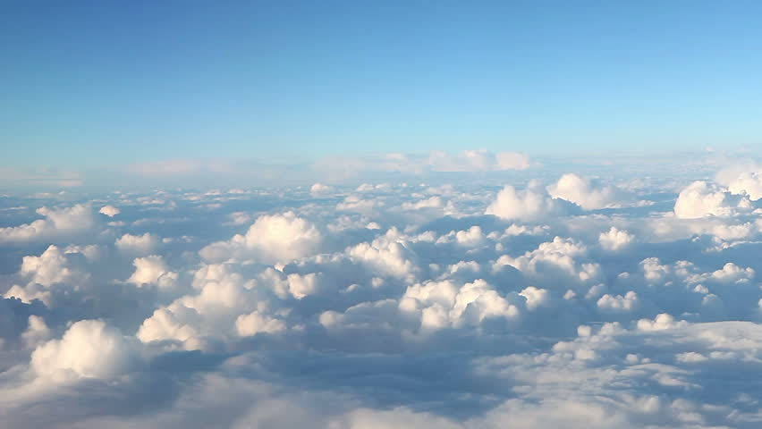 Traveling by air. View through an airplane window.  No 7 ( Full high definition video )