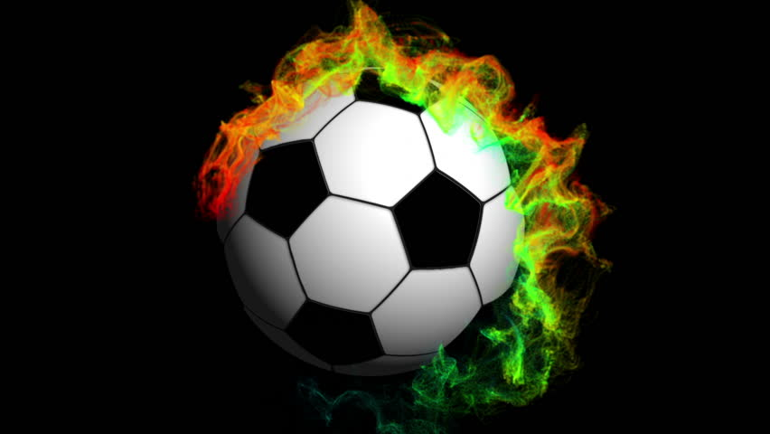 Soccer Ball In Particle With Stock Footage Video 100 Royalty Free