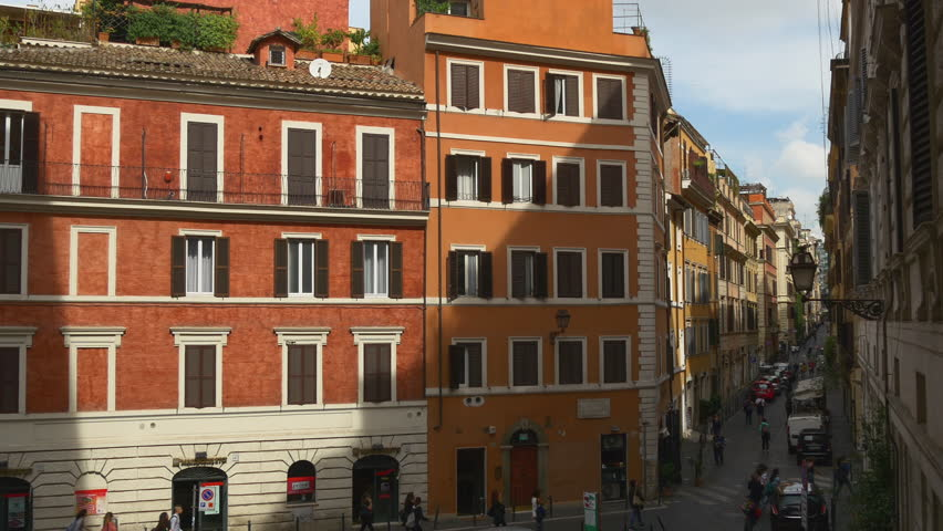 Apartment Building Front italy - october, 2012: a shot of some apartment buildings in rome