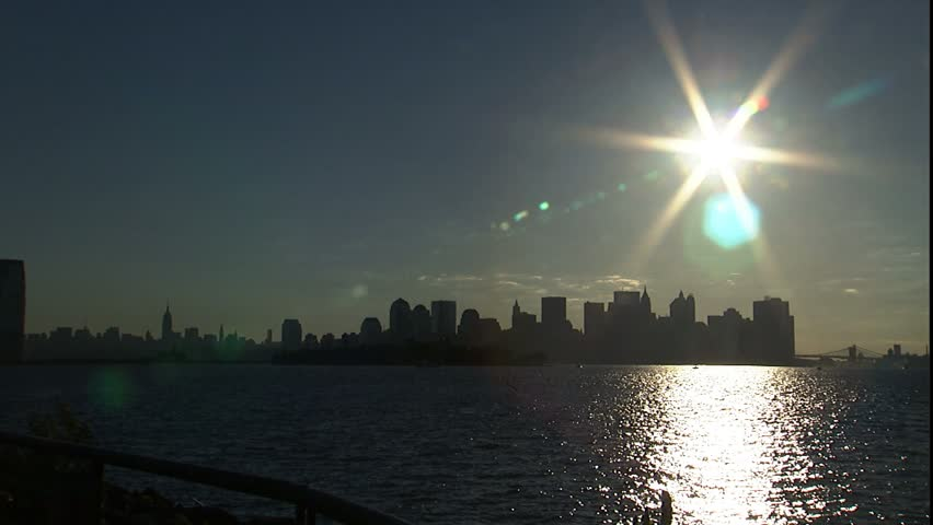 View of New York City and Ellis Island | Shutterstock HD Video #2230288