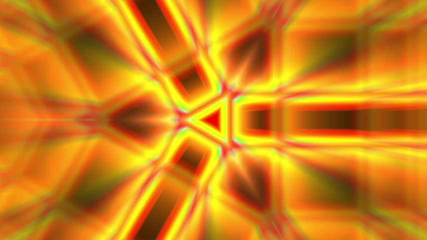 Warm Orange Rays Tri Psychedelic Kaleidoscope Motion Background Loop | Shutterstock HD Video #22336978