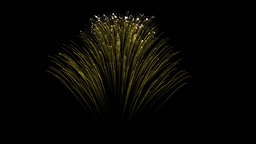 Spectacular Fireworks show, yellow linear fireworks, multiple lines. Full HD Ver. 6 | Shutterstock HD Video #22378258