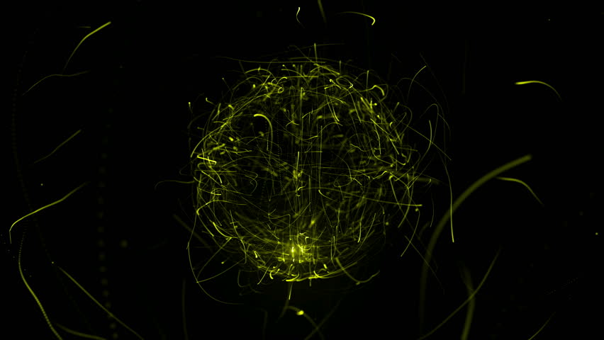 Colorful sphere in space with glowing particles. Abstract background. Loop video. Seamless. Beautiful background with particles. Isolated sphere on black background with particles | Shutterstock HD Video #22383658