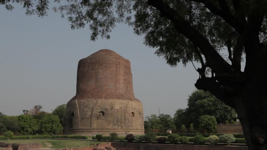 CIRCA 2011: WS Stupas where Buddha chose to deliver his first sermons / Sarnath, India