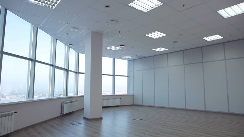 large office space. Large Office Space Is Leased. There Room For Negotiation. On The Windows We See Jalousie. Without Walls With Windows. Panoramic Shot/For Rent
