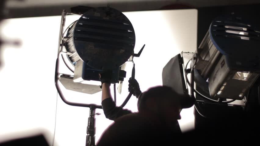 KYIV, UKRAINE - DECEMBER 28, 2014. Behind the scenes filming.