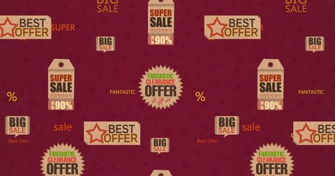 Discounts on site, selling the store, low price, best price, the best deal. Animated background, falling prices.