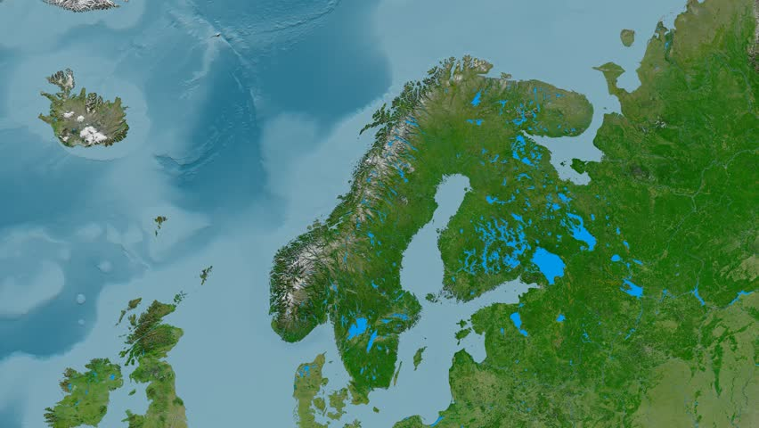 Norway D Earth In Space Zoom In On Norway Contoured Elements - Norway vegetation map