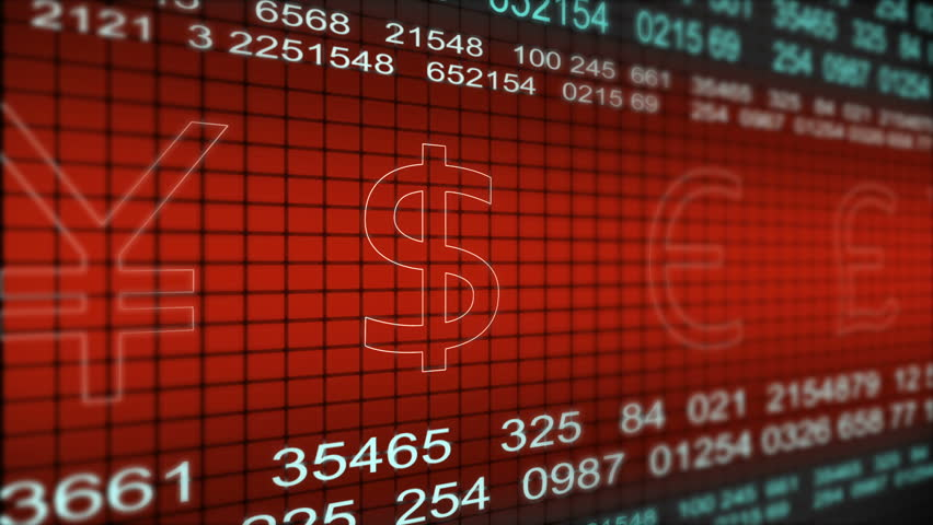 Stock Market Ticker With Currency Symbols