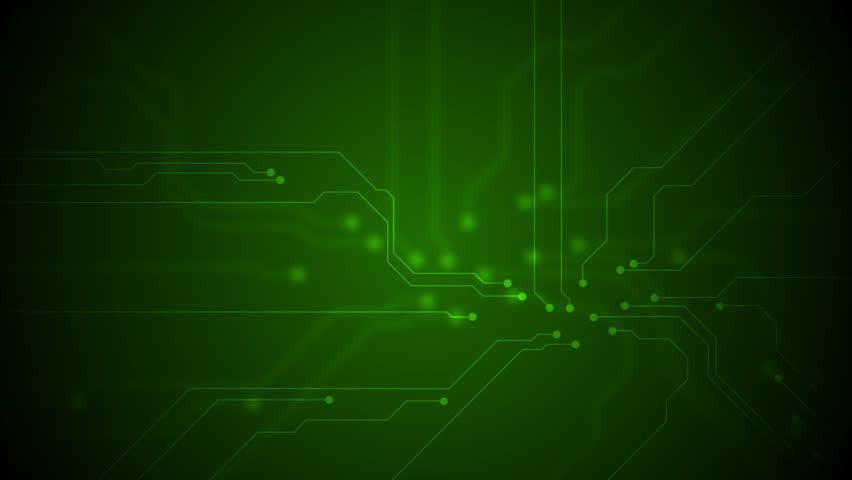Green Technology Wallpaper: Blue Tech Circuit Board Technology Animated Background