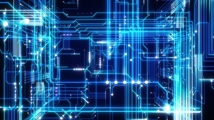 Animated Technology Background With Keypad. Stock Footage