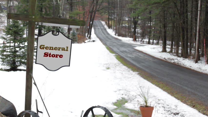 General Store sign for Generic Entrance - Establishing Shot  December 25 2016