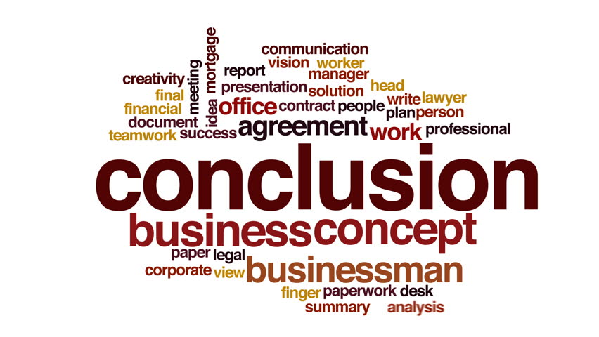 Header of conclusion