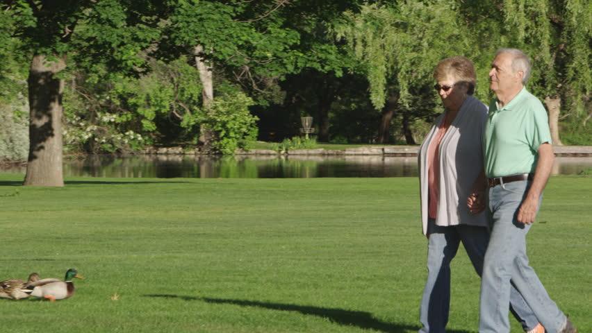 Elderly couple in the park | Shutterstock HD Video #22673638