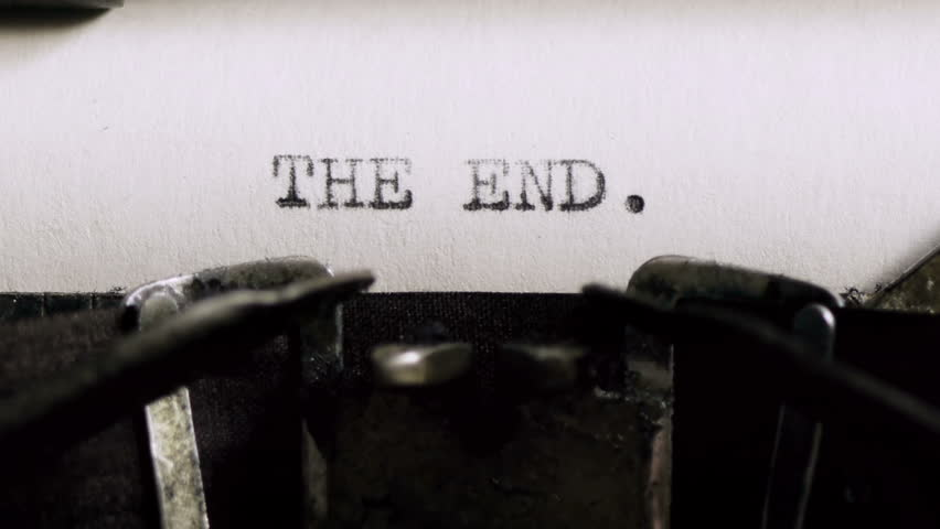 Image result for the end typewriter