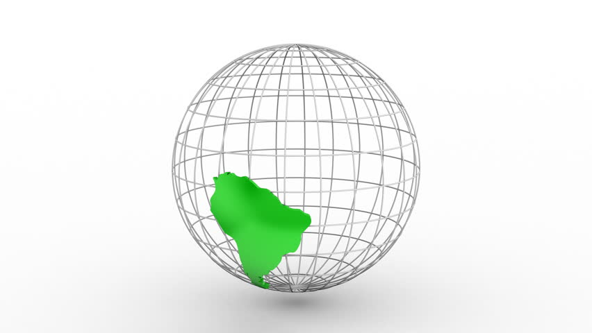 Creating a Rotating Globe. White background, 2 in 1, loop (301-600 frames), created in 4K, alpha matte, 3d animation   Shutterstock HD Video #22738288