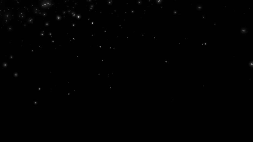High quality motion animation representing snow falling, animated on a black background. | Shutterstock HD Video #22746028