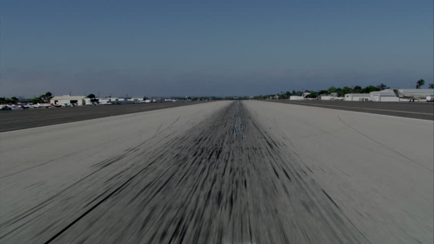 view from the cockpit of taking off from the runway