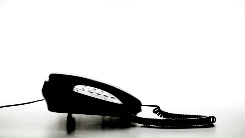 Telephone Call Silhouette