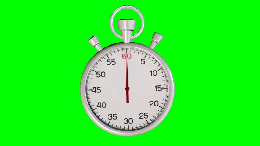 60 Seconds Countdown Stock Video Footage