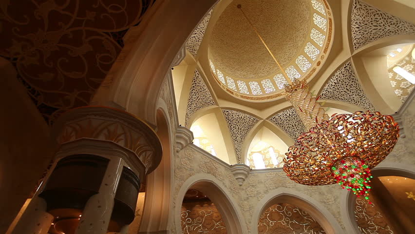 Chandelier in Sheikh Zayed Mosque Abu Dhabi