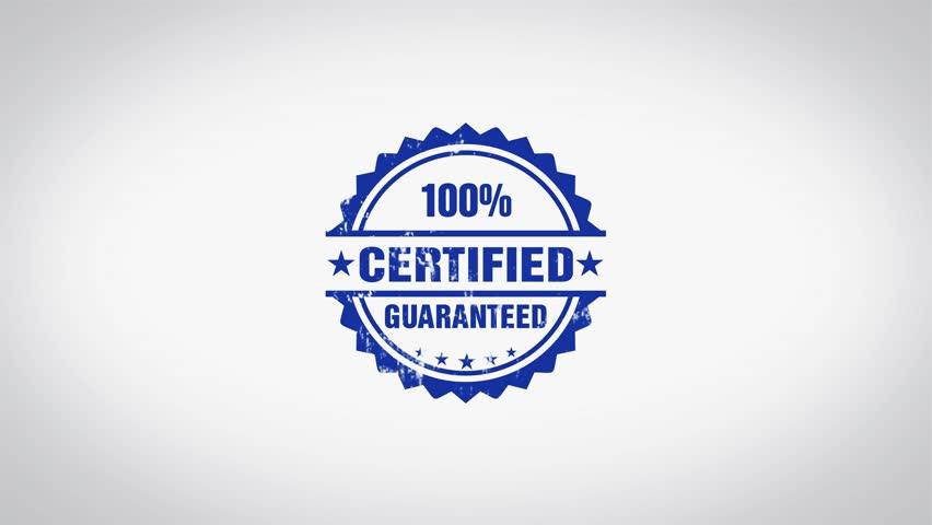 Header of certified