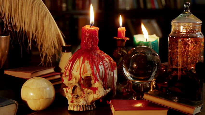 Melted Skull Candle Magic Artifacts Stock Footage Video (100% Royalty-free)  2292038   Shutterstock