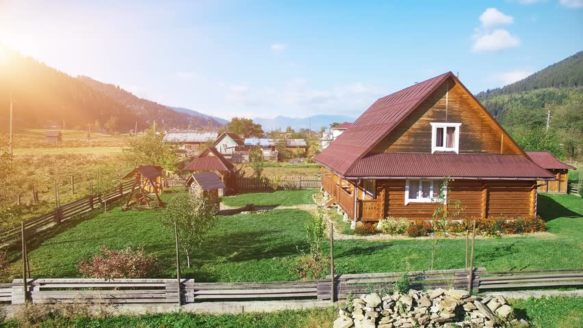 Small village in swiss switzerland houses stock footage for Swiss homes