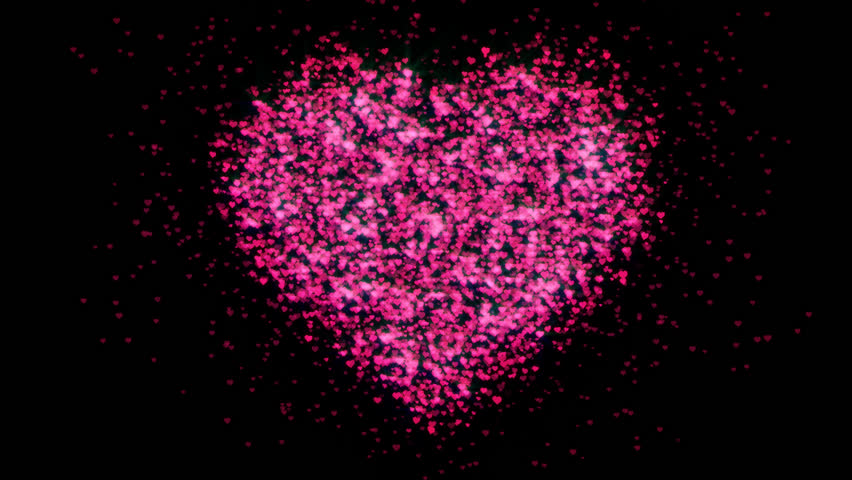 Red Sparkling hearts explosion.Valentine's Day shining heart.Good for lower third and transition.Good for wedding intro and opener.More Romantic collections in my portfolio.