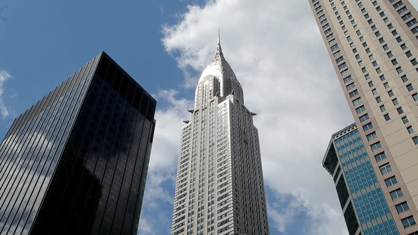 NEW YORK - CIRCA August 2011: Shot of Chrysler building and others in New York City NY