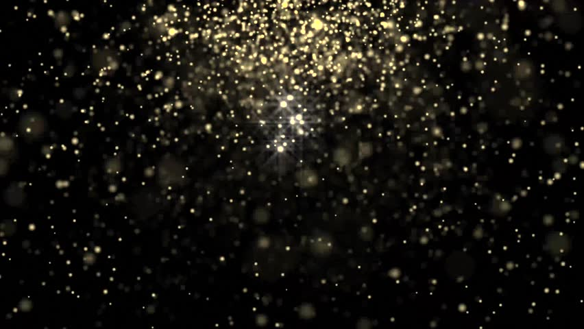Golden glowing star particle in random direction  abstract background animation motion graphic 3D render with copy space on black background  | Shutterstock HD Video #22981396