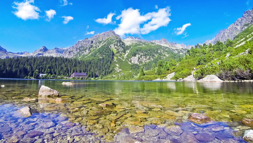 Picturesque summer view of Lake Popradske pleso in High Tatras, Slovakia. Time Lapse | Shutterstock HD Video #23014618