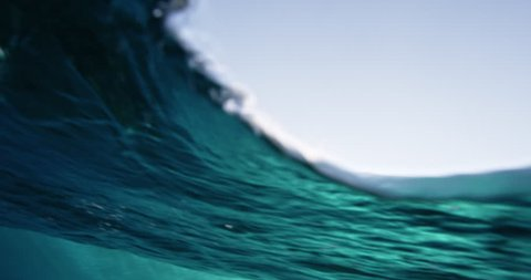 Under water view of ocean wave. Shot on RED